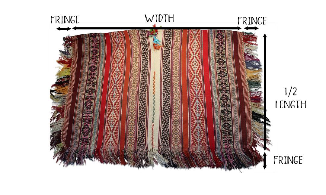 How We Measure Our Ponchos   Shamans Market