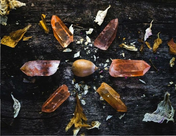 autumn crystal grid