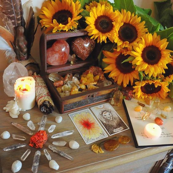 sunflower altar